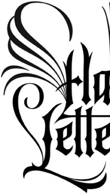 Hand Lettering Goth Tattoo Style | Hoffmann Angelic Design | Ivan Angelic | Angel | Wings | Dark | packaging | Publishing | Author Logo | branding | book titling | periodicals