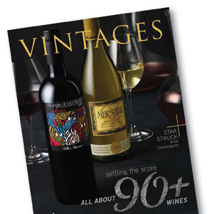 Vintages Cover LCBO | Hoffmann Angelic Design | Magazine | LCBO | wine | chalkboard | chalk | type design  retro | wine cellar