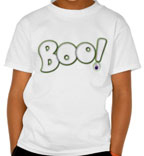 boo | Halloween | Lettering | Ghost | redbubble | zazzle | 26_characters | 26 Characters | T-shirt | tee | scarf | card | poster | cartoon |  zombie | eye | Hoffmann angelic design