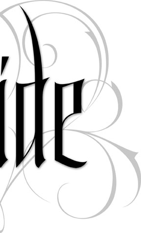 Bride Gothic lettering for Zazzle and Redbubble | 26 Characters | 26_characters | hoffmann Angelic Design | wedding | marriage | biker | tattoo | vampire | black | white | elegant | fshionalbe | scarf | t-shirt | pillow | inviation | reception | rehearsal