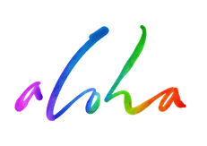 aloha lettering for Zazzle and Redbubble