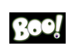 boo lettering for Zazzle and Redbubble