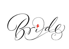 Bride Calligarphy lettering for Zazzle and Redbubble