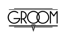 Groom Art Deco lettering for Zazzle and Redbubble