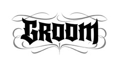 Groom Goth lettering for Zazzle and Redbubble
