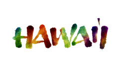 Hawaii lettering for Zazzle and Redbubble
