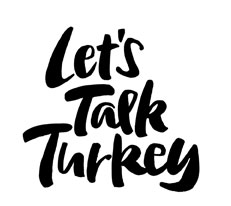 Let's Talk Turkey lettering for Zazzle and Redbubble