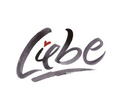 Liebe lettering for Zazzle and Redbubble