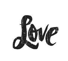 Love Distressed lettering for Zazzle and Redbubble