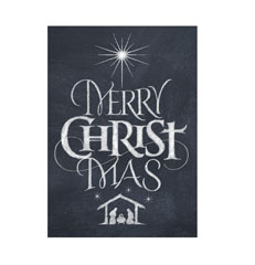 Merry Christ Mas lettering for Zazzle and Redbubble
