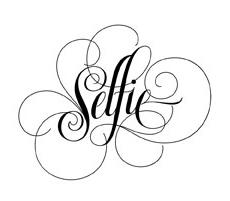 Selfie Luxurient lettering for Zazzle and Redbubble