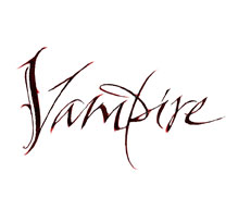 Vampire lettering for Zazzle and Redbubble