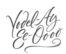 Yodel Ay Ee Ooo lettering for Zazzle and Redbubble